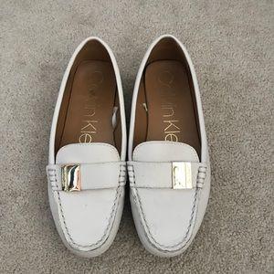 calvin klein white loafers